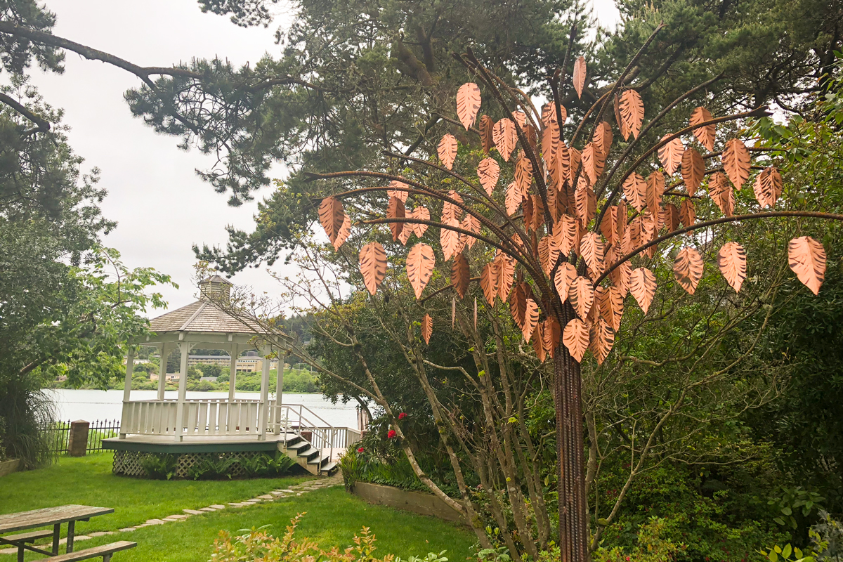 Public-Art-Copper-Leaf-Tree