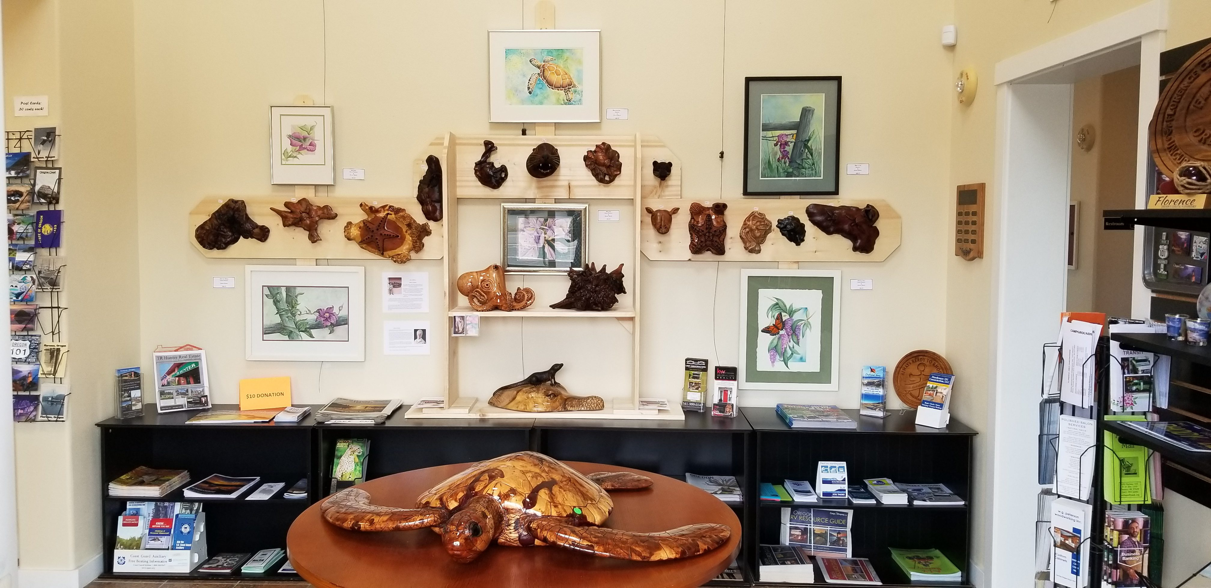 Heffy Gallery Exhibits at the Visitors Center
