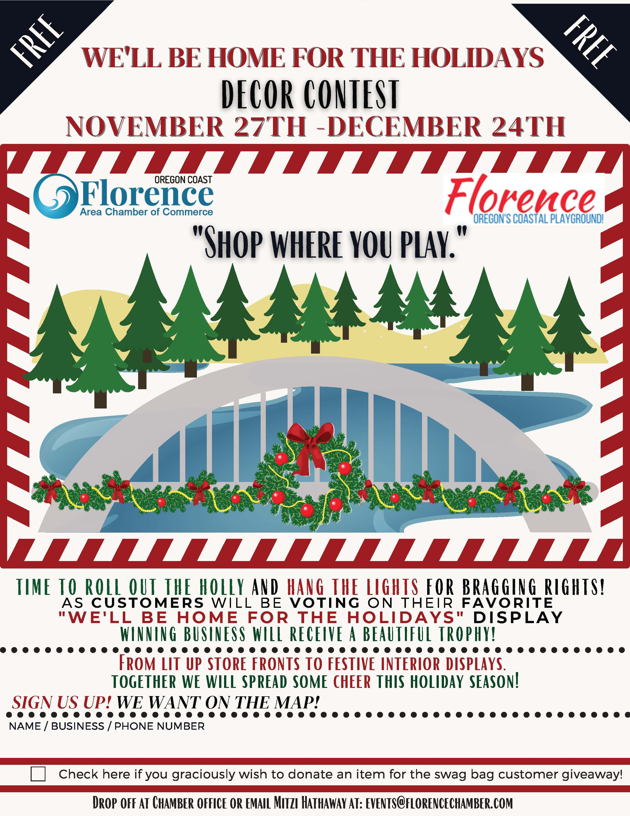 We'll be home for the Holidays Decor Contest – Sign up today to join the fun and do some business!